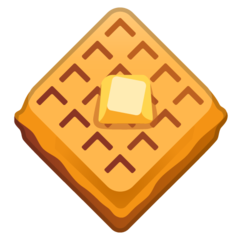 How Waffle emoji looks on Google.