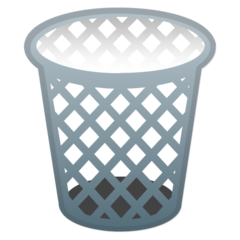 How Wastebasket emoji looks on Google.
