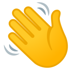 How Waving Hand emoji looks on Google.