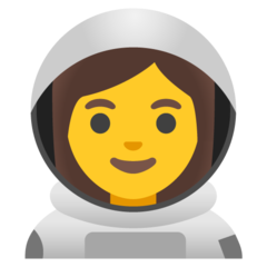 How Woman Astronaut emoji looks on Google.