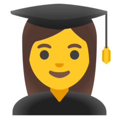 How Woman Student emoji looks on Google.
