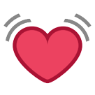 How Beating Heart emoji looks on Htc.