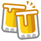 How Clinking Beer Mugs emoji looks on Htc.