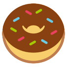 How Doughnut emoji looks on Htc.