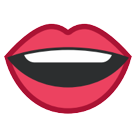 How Mouth emoji looks on Htc.