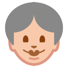 How Old Woman emoji looks on Htc.