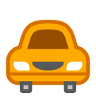 How Oncoming Automobile emoji looks on Htc.