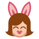 How People with Bunny Ears emoji looks on Htc.