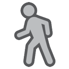 How Person Walking emoji looks on Htc.