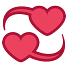 How Revolving Hearts emoji looks on Htc.