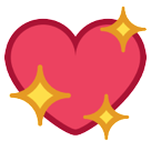 How Sparkling Heart emoji looks on Htc.