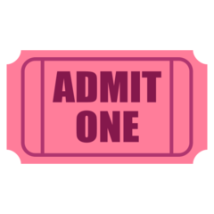 How Admission Tickets emoji looks on Joypixels.