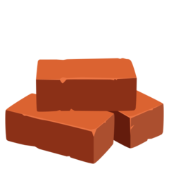 How Brick emoji looks on Joypixels.