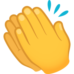 How Clapping Hands emoji looks on Joypixels.