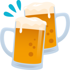 How Clinking Beer Mugs emoji looks on Joypixels.