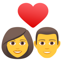 How Couple with Heart: Woman, Man emoji looks on Joypixels.