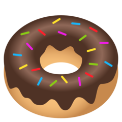How Doughnut emoji looks on Joypixels.