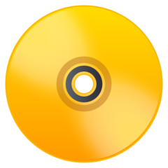How Dvd emoji looks on Joypixels.