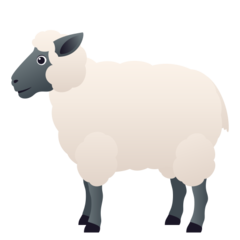 How Ewe emoji looks on Joypixels.
