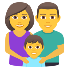 How Family: Man, Woman, Boy emoji looks on Joypixels.