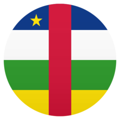 How Flag: Central African Republic emoji looks on Joypixels.