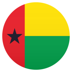 How Flag: Guinea-Bissau emoji looks on Joypixels.