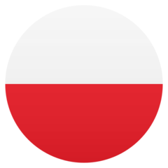 How Flag: Poland emoji looks on Joypixels.