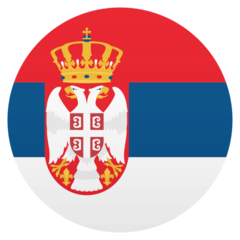 How Flag: Serbia emoji looks on Joypixels.