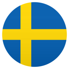 How Flag: Sweden emoji looks on Joypixels.