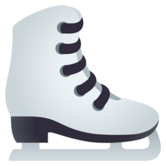 How Ice Skate emoji looks on Joypixels.