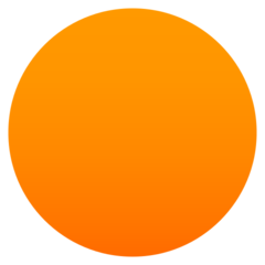 How Orange Circle emoji looks on Joypixels.