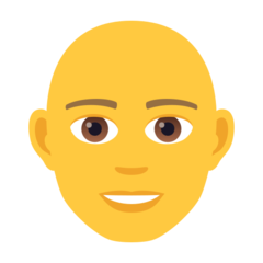 How Man: Bald emoji looks on Joypixels.