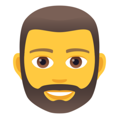 How Man: Beard emoji looks on Joypixels.