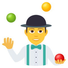 How Man Juggling emoji looks on Joypixels.