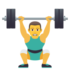How Man Lifting Weights emoji looks on Joypixels.