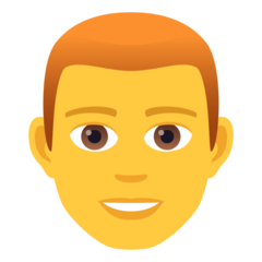 How Man: Red Hair emoji looks on Joypixels.
