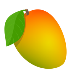 How Mango emoji looks on Joypixels.