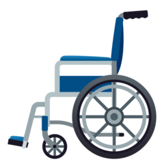How Manual Wheelchair emoji looks on Joypixels.