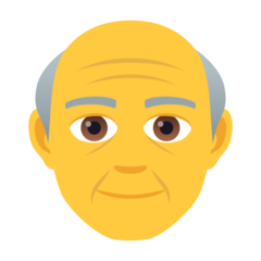 How Old Man emoji looks on Joypixels.