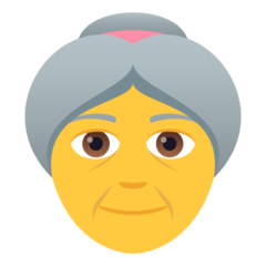How Old Woman emoji looks on Joypixels.