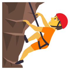 How Person Climbing emoji looks on Joypixels.