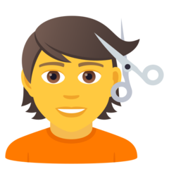 How Person Getting Haircut emoji looks on Joypixels.