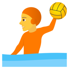 How Person Playing Water Polo emoji looks on Joypixels.