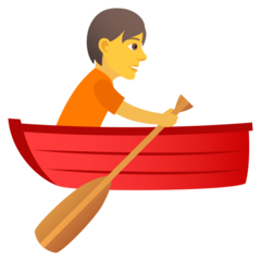 How Person Rowing Boat emoji looks on Joypixels.