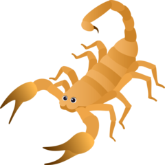 How Scorpion emoji looks on Joypixels.