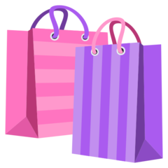 How Shopping Bags emoji looks on Joypixels.