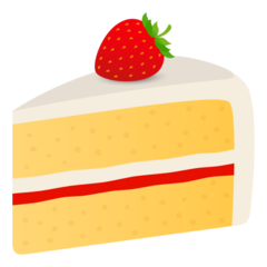 How Shortcake emoji looks on Joypixels.
