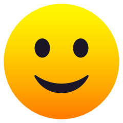 How Slightly Smiling Face emoji looks on Joypixels.