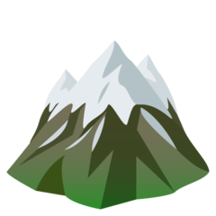 How Snow-Capped Mountain emoji looks on Joypixels.