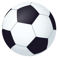 How Soccer Ball emoji looks on Joypixels.
